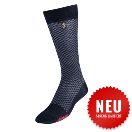 VoxxLuxe - Mercerisierte Herren Kleidersocke - Hahnentritt 1